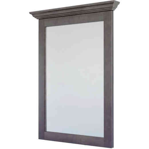 CraftMark St. Paul Designer Gray Stained 30 In. W x 36 In. H Vanity Mirror