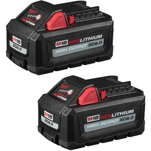 Milwaukee M18 RedLithium High Output XC 6.0Ah Battery Pack (2-Count)