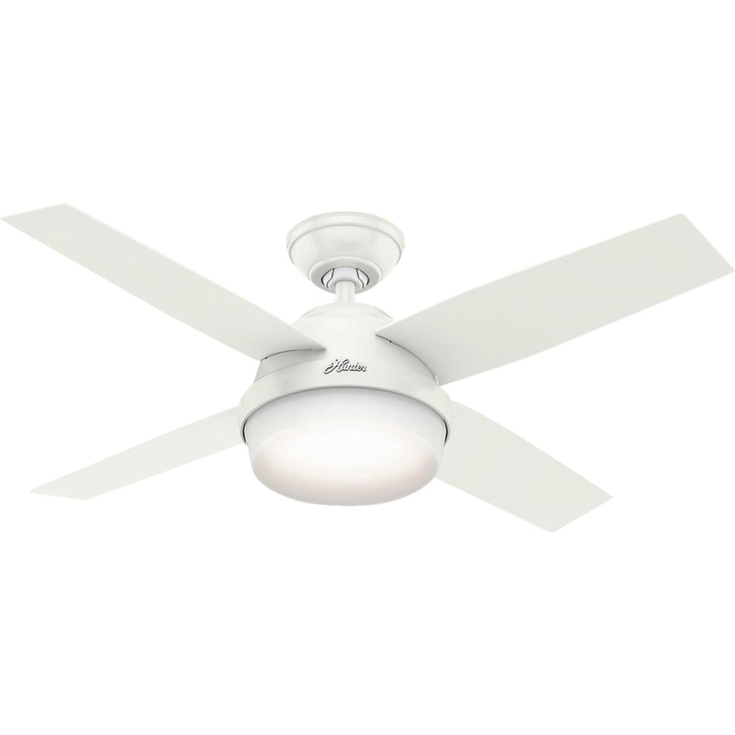 Hunter Dempsey 44 In. Fresh White Ceiling Fan with Light Kit Image 1