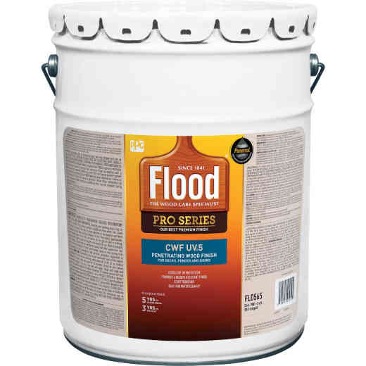 Flood CWF - UV5 Pro Series Wood Finish Exterior Stain, Cedar, 5 Gal.
