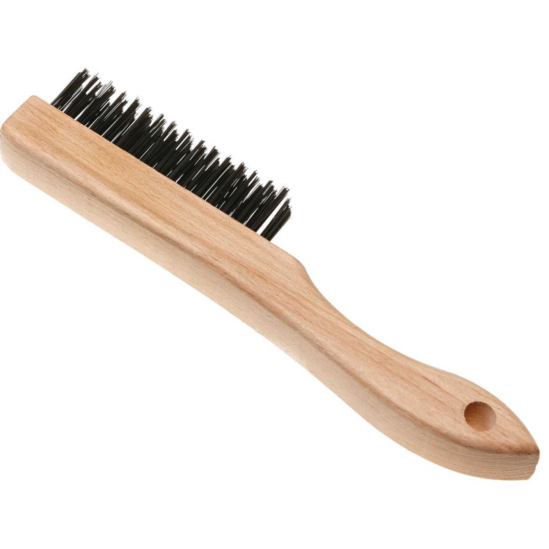 Best Look Wood Shoe Handle Wire Brush Image 1