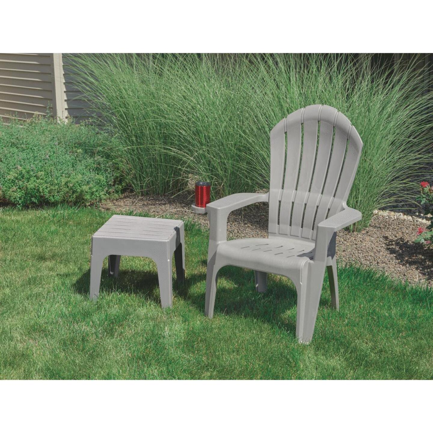 Adams Big Easy Gray Resin Adirondack Chair Image 2