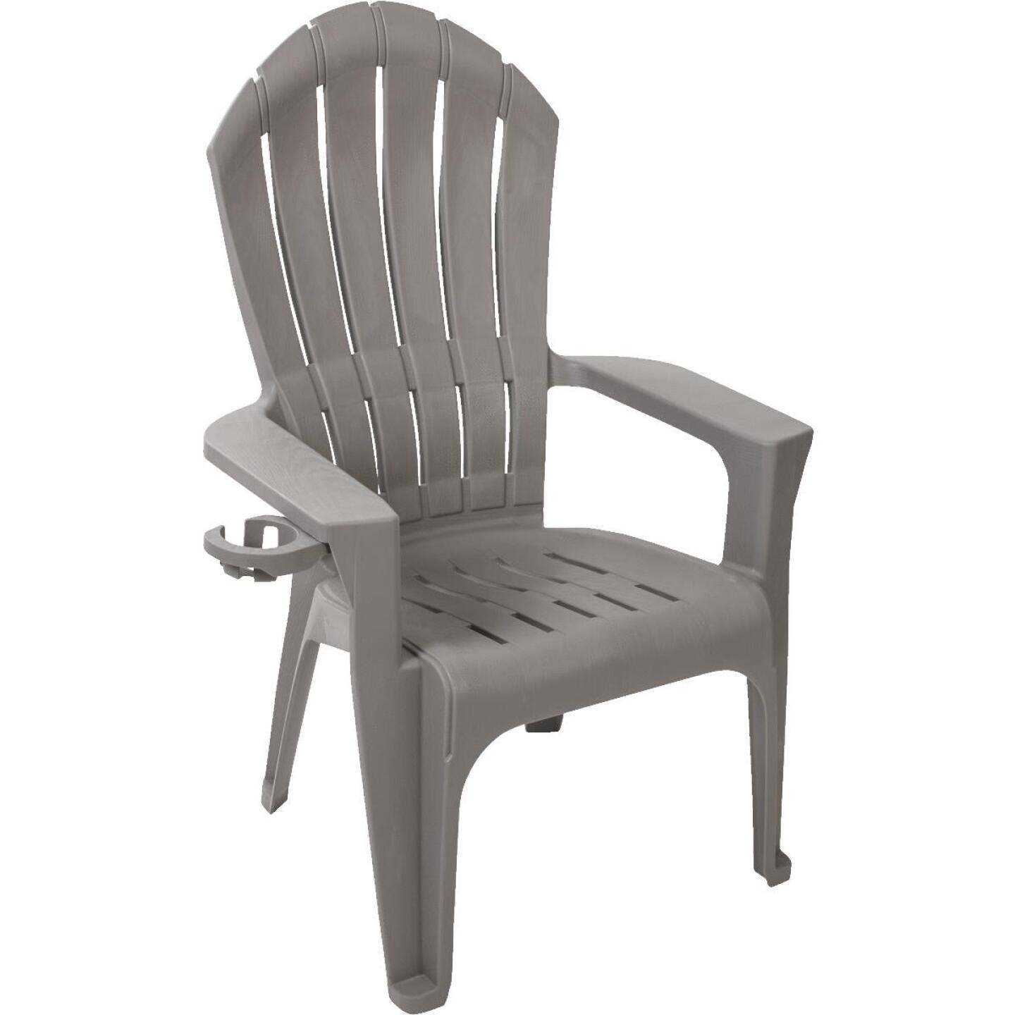 Adams Big Easy Gray Resin Adirondack Chair Image 1