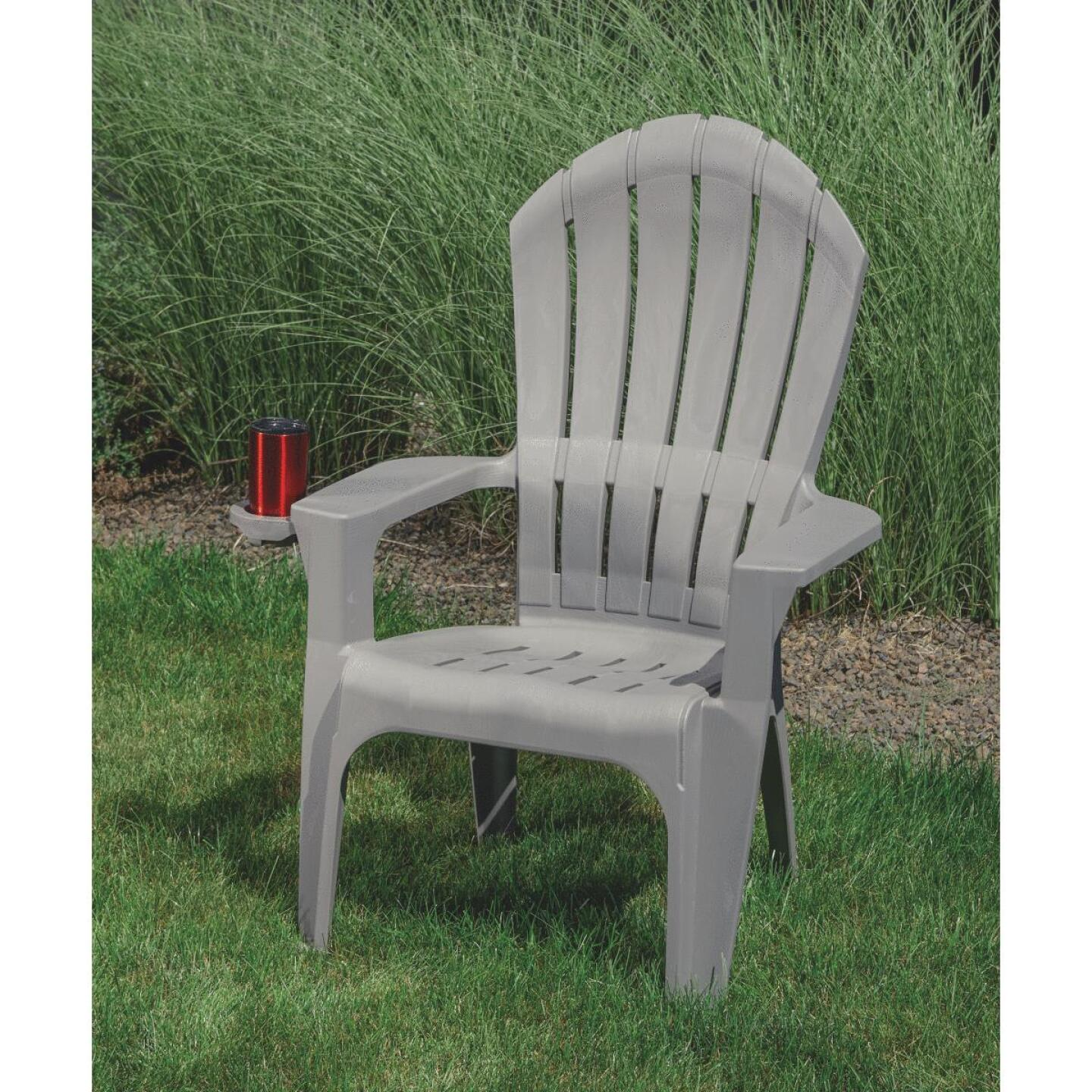 Adams Big Easy Gray Resin Adirondack Chair Image 5