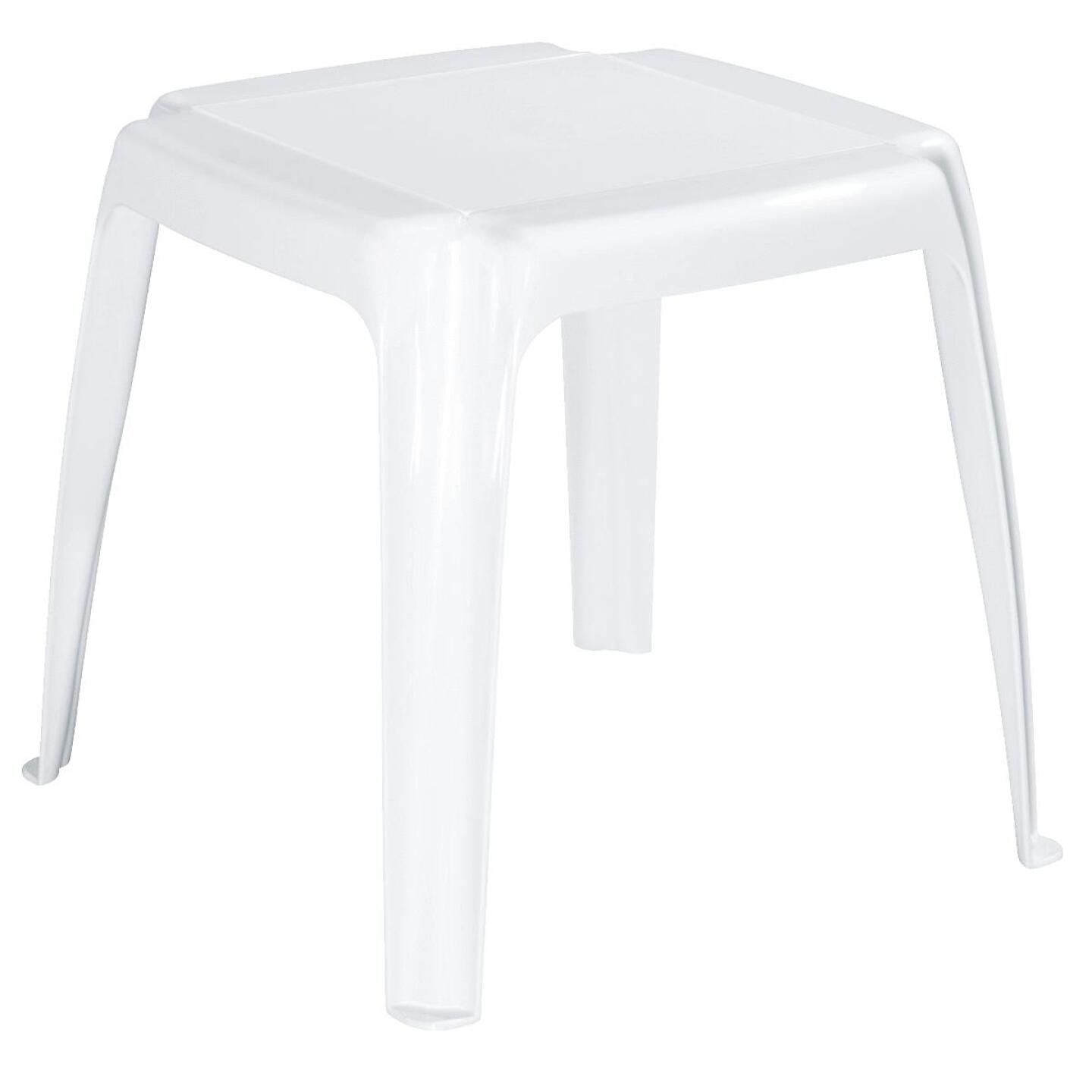Adams White 16 In. Square Resin Side Table Image 1