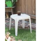 Adams White 16 In. Square Resin Side Table Image 2